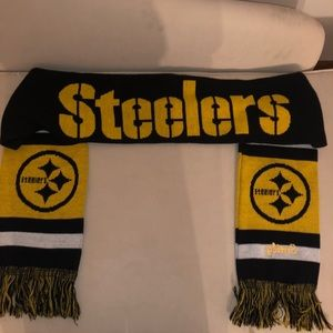 Steelers scarf with Emily embroidered